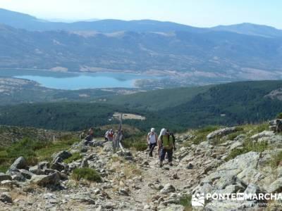 Ascensión Pico del Nevero - rutas para senderismo; charca verde pedriza